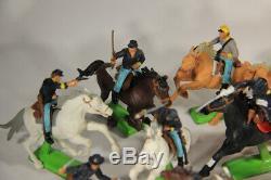 Vintage 1971 Britains Deetail US Civil War Soldiers & Horses Mixed Lot L011467