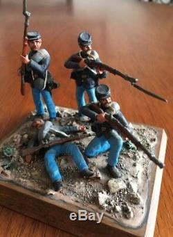 Vintage Civil War Die-Cast Metal Mini Soldier 3 PC Collection In Fine Detail