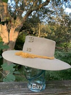 Vintage FRANK BURGESS Civil War Confederate Soldier Army Infantry Hat sj17j17