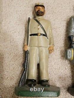 Vintage General Lee 2 Soldier Solid Heavy Cast Iron Figural Door Stop CIVIL War
