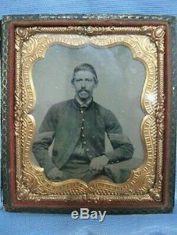 Vintage Photo CIVIL War Union Soldier Anbrotype