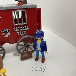 Vintage Playmobil 3037 National Bank Wagon Union Soldiers US Civil War RARE