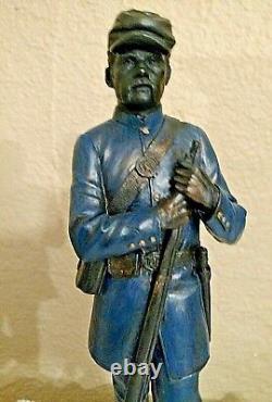 Vtg Civil War North-Union Soldier Handcrafted Sculpture/Figure Signed/Numbered