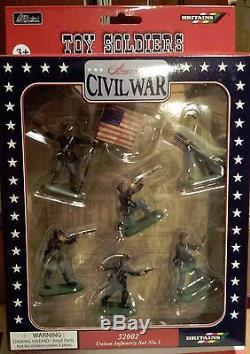 W Britain American Civil War Super Deetail Figures, Union Infantry Set No 1 52002