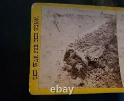 WAR FOR THE UNION Stereoview Dead Confederate Soldier John C Taylor Civil War