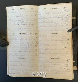 WOMANS 1865 MANUSCRIPT DEATH DIARY CIVIL WAR SOLDIER NAMES Jail Murder HOLDEN MA