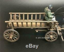 War Park KH014 WWII Civil Horse Carriage Soldier Metal Figure 1/30 Kharkov Mode