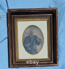 Whole Plate Tintype Armed Civil War Confederate Soldier Buncomb County, NC