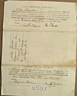 Wisconsin CIVIL War Madison Wisconsin Soldier Enlistment 1862