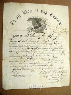 York Pennsylvania CIVIL War Soldier Discharge Charles Spangler