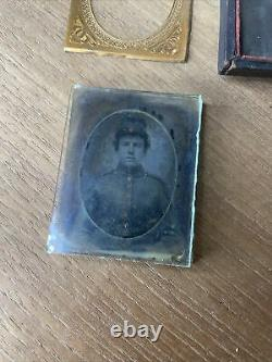 Young Civil War Soldier Possibly Teenager Tintype Photo