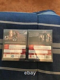 Zavvi CivilWar And Winter Soldier Steelbooks Brand New