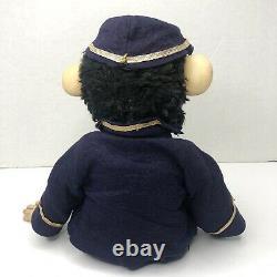 Zip the Monkey Doll Union Soldier Civil War Zip Chimp Plush Vintage Rushton RARE